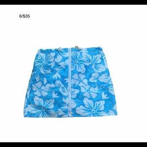 ANEMON blue and white bathing skirt - full zip